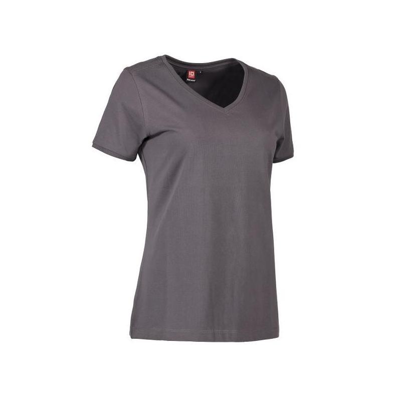 Heute im Angebot: PRO Wear CARE Damen T-Shirt 373 von ID / Farbe: grau / 60% BAUMWOLLE 40% POLYESTER