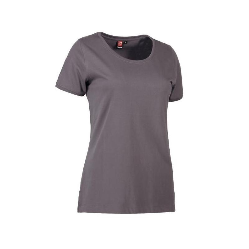 Heute im Angebot: PRO Wear CARE O-Neck Damen T-Shirt 371 von ID / Farbe: grau / 60% BAUMWOLLE 40% POLYESTER
