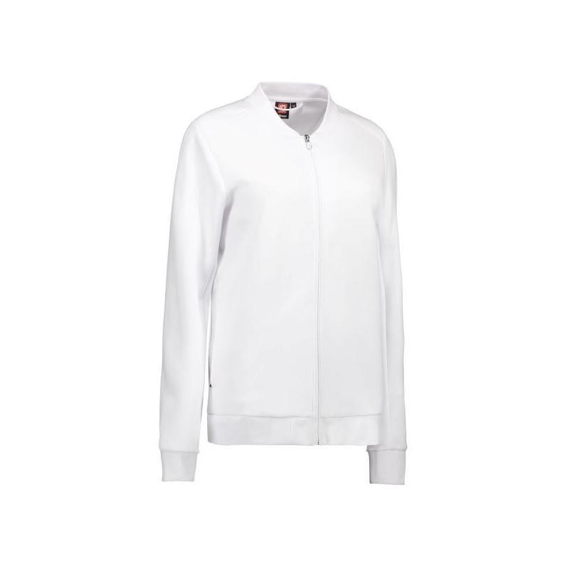 Heute im Angebot: PRO Wear Cardigan Damen 367 von ID / Farbe: weiß / 60% BAUMWOLLE 40% POLYESTER jetzt günstig kaufen