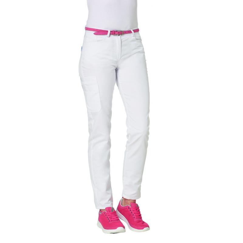Heute im Angebot: Damenhose 7490 von LEIBER / Farbe: weiß / 50 % Baumwolle 50% Polyester