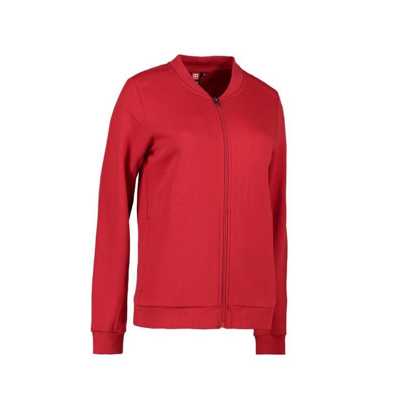 Heute im Angebot: PRO Wear Cardigan Damen 367 von ID / Farbe: rot / 60% BAUMWOLLE 40% POLYESTER