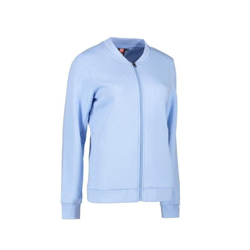 Heute im Angebot: PRO Wear Cardigan Damen 367 von ID / Farbe: hellblau / 60% BAUMWOLLE 40% POLYESTER