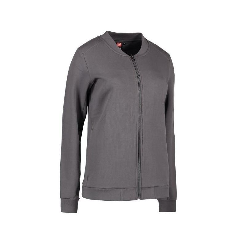 Heute im Angebot: PRO Wear Cardigan Damen 367 von ID / Farbe: grau / 60% BAUMWOLLE 40% POLYESTER