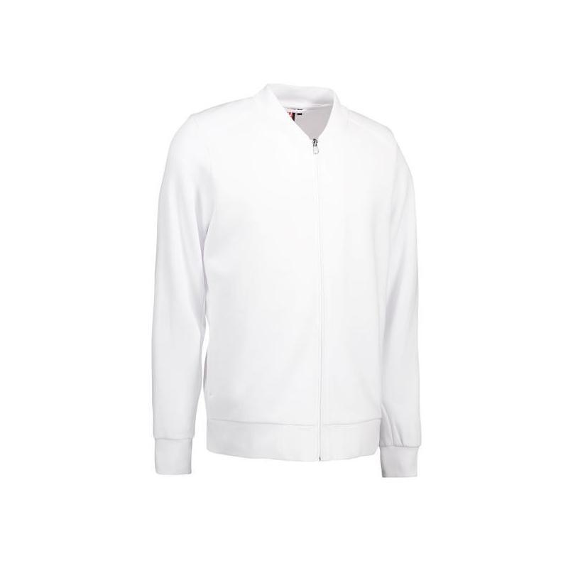 Heute im Angebot: PRO Wear Cardigan Herren 366 von ID / Farbe: weiß / 60% BAUMWOLLE 40% POLYESTER