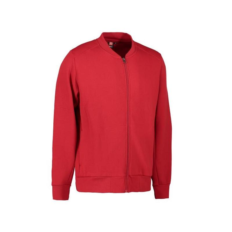 Heute im Angebot: PRO Wear Cardigan Herren 366 von ID / Farbe: rot / 60% BAUMWOLLE 40% POLYESTER