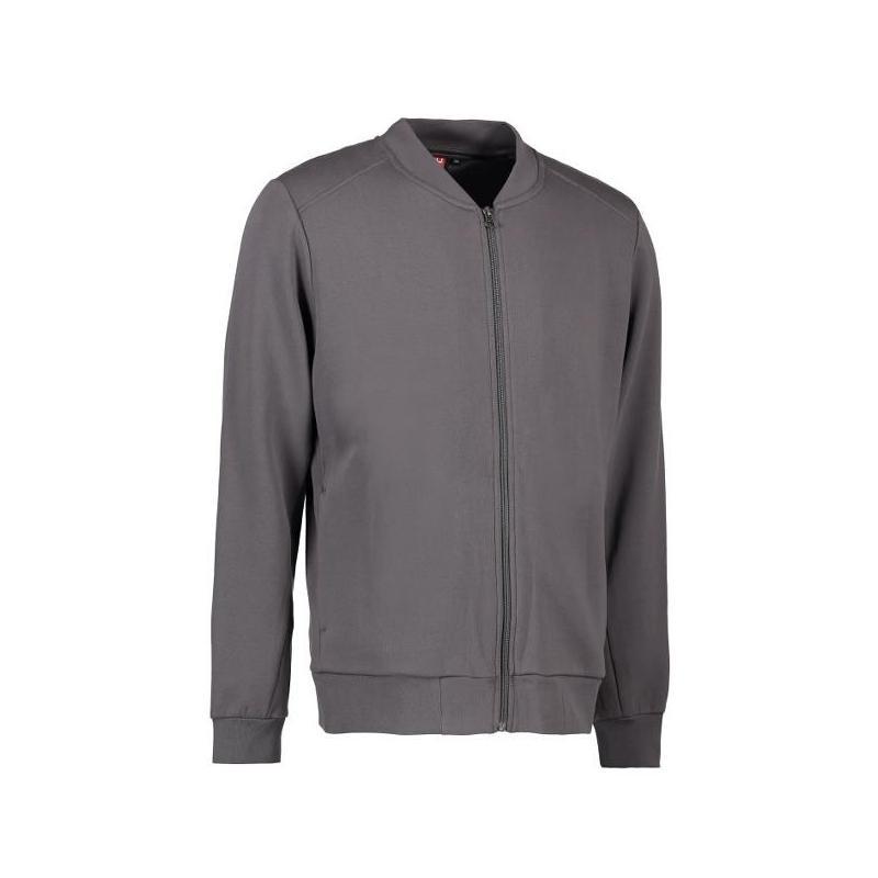 Heute im Angebot: PRO Wear Cardigan Herren 366 von ID / Farbe: grau / 60% BAUMWOLLE 40% POLYESTER jetzt günstig kaufen