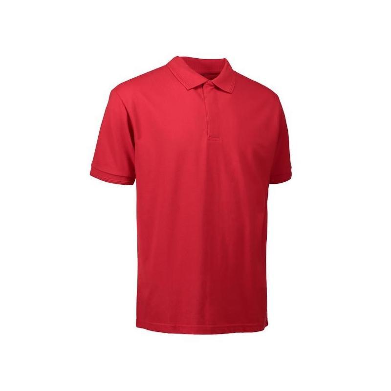 Heute im Angebot: PRO Wear Poloshirt Herren 330 von ID / Farbe: rot / 50% BAUMWOLLE 50% POLYESTER