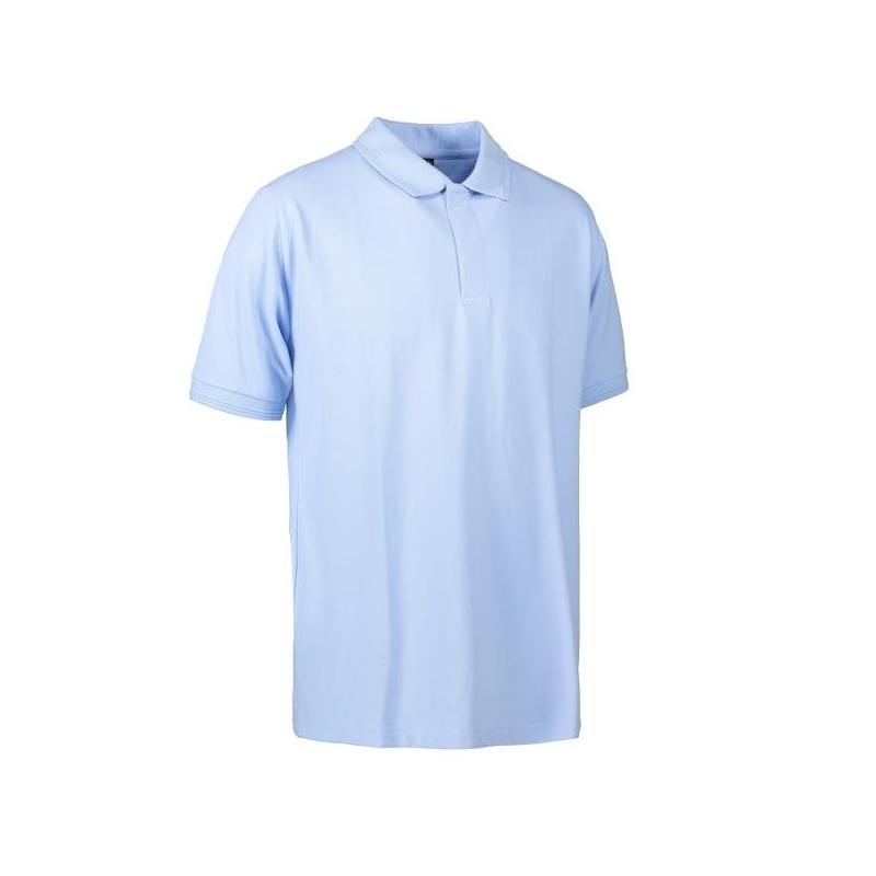 Heute im Angebot: PRO Wear Poloshirt Herren 330 von ID / Farbe: hellblau / 50% BAUMWOLLE 50% POLYESTER jetzt günstig kaufen