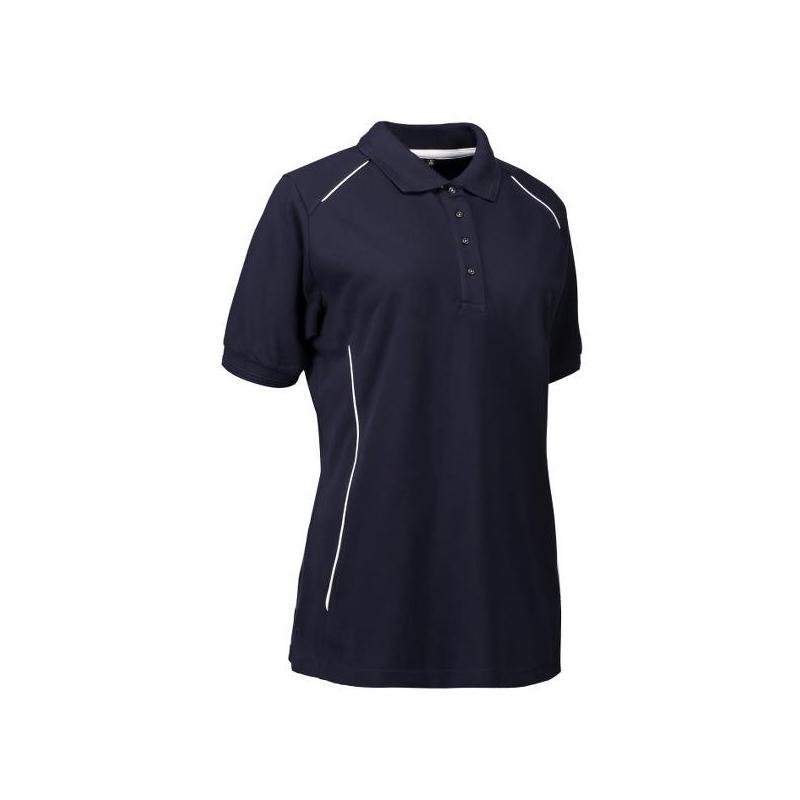 Heute im Angebot: PRO Wear Damen Poloshirt | Paspel 329 von ID / Farbe: navy / 50% BAUMWOLLE 50% POLYESTER jetzt günstig kaufen