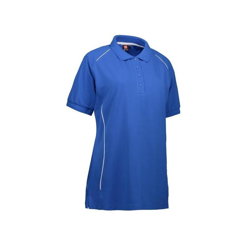 Heute im Angebot: PRO Wear Damen Poloshirt | Paspel 329 von ID / Farbe: azur / 50% BAUMWOLLE 50% POLYESTER