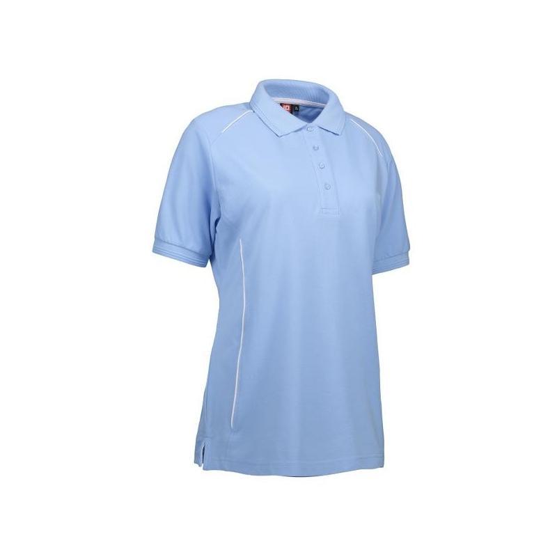 Heute im Angebot: PRO Wear Damen Poloshirt | Paspel 329 von ID / Farbe: hellblau / 50% BAUMWOLLE 50% POLYESTER in der Region kaufen