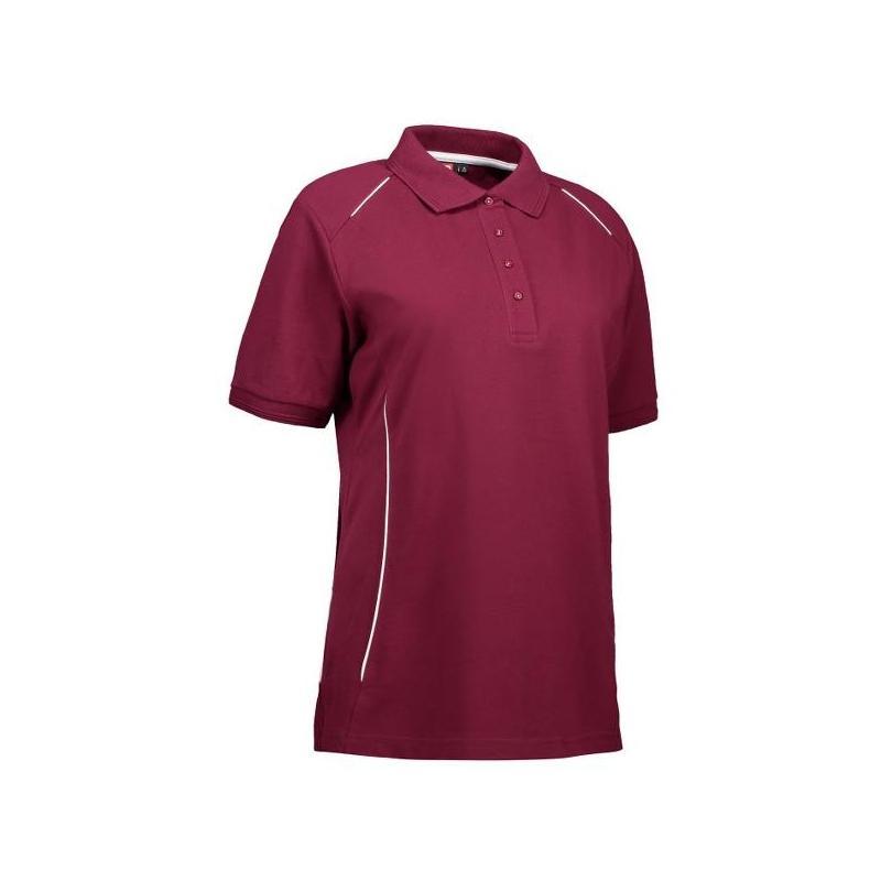 Heute im Angebot: PRO Wear Damen Poloshirt | Paspel 329 von ID / Farbe: bordeaux / 50% BAUMWOLLE 50% POLYESTER in der Region kaufen