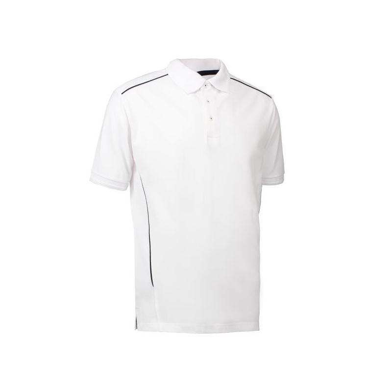Heute im Angebot: PRO Wear Herren Poloshirt | Paspel 328 von ID / Farbe: weiß / 50% BAUMWOLLE 50% POLYESTER jetzt günstig kaufen