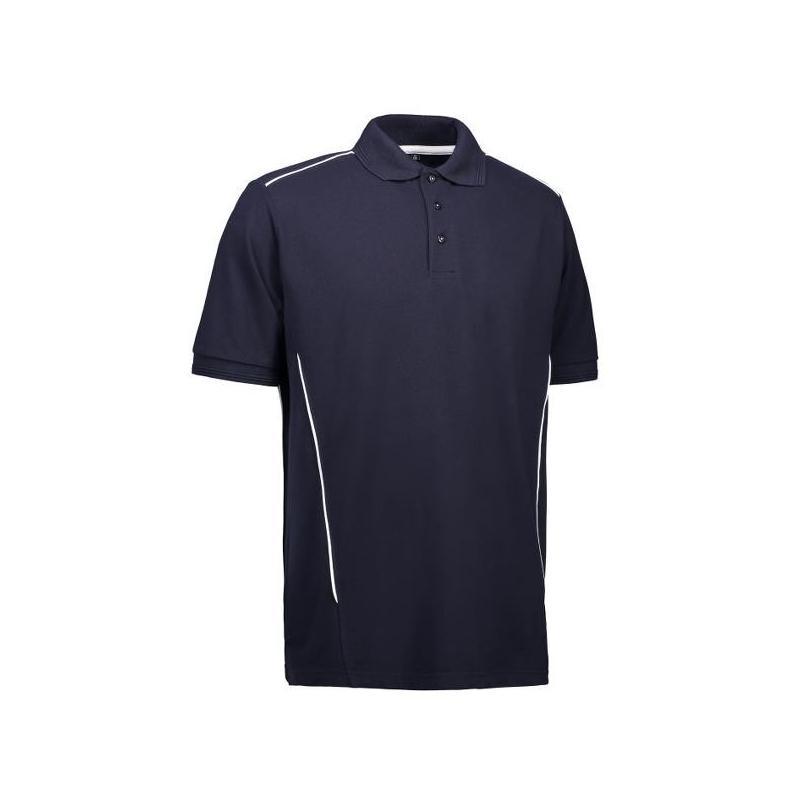 Heute im Angebot: PRO Wear Herren Poloshirt | Paspel 328 von ID / Farbe: navy / 50% BAUMWOLLE 50% POLYESTER