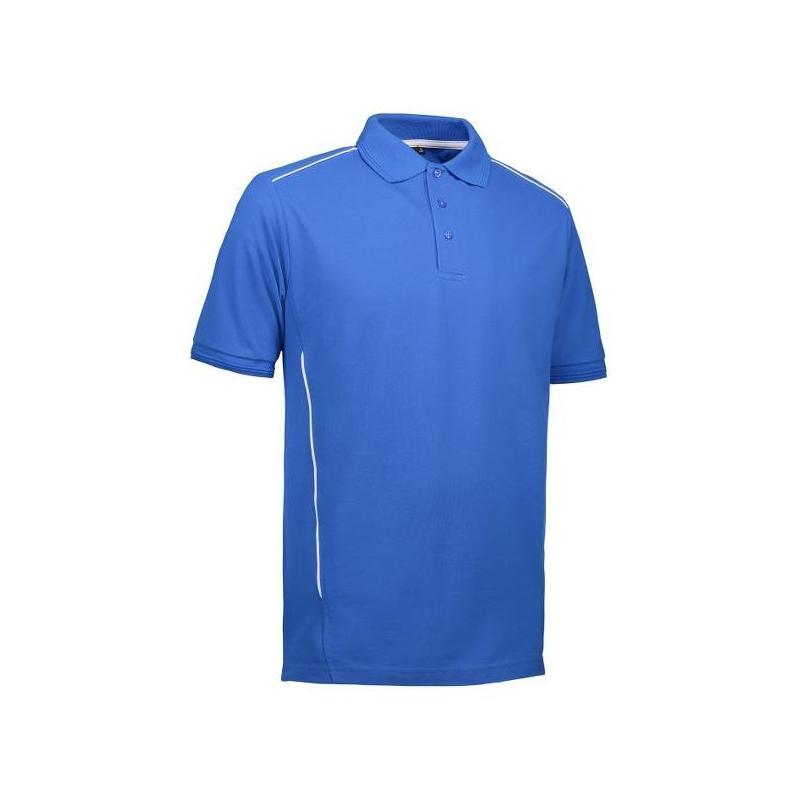 Heute im Angebot: PRO Wear Herren Poloshirt | Paspel 328 von ID / Farbe: azur / 50% BAUMWOLLE 50% POLYESTER jetzt günstig kaufen