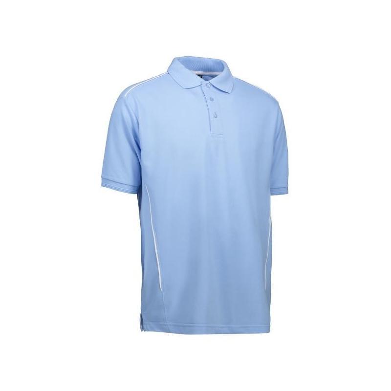 Heute im Angebot: PRO Wear Herren Poloshirt | Paspel 328 von ID / Farbe: hellblau / 50% BAUMWOLLE 50% POLYESTER in der Region kaufen