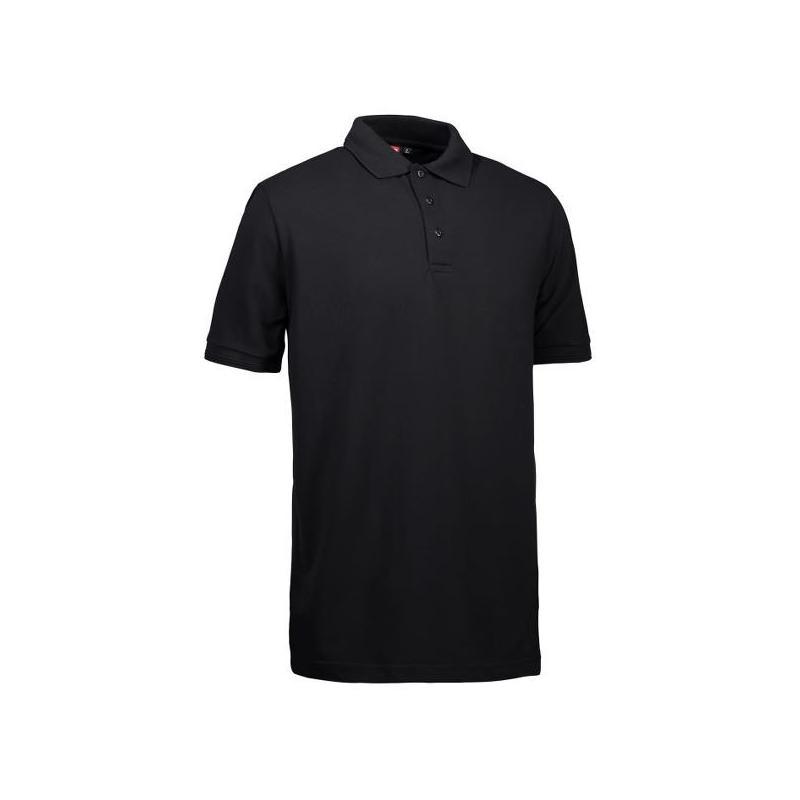 Heute im Angebot: PRO Wear Herren Poloshirt | ohne Tasche 324 von ID / Farbe: schwarz / 50% BAUMWOLLE 50% POLYESTER