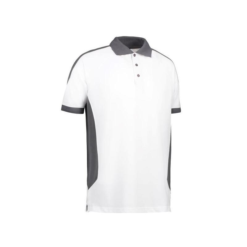 Heute im Angebot: PRO Wear Herren Poloshirt 322 von ID / Farbe: weiß / 50% BAUMWOLLE 50% POLYESTER jetzt günstig kaufen