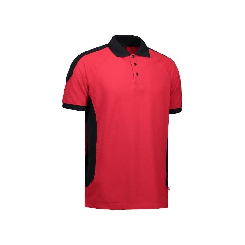 Heute im Angebot: PRO Wear Herren Poloshirt 322 von ID / Farbe: rot / 50% BAUMWOLLE 50% POLYESTER