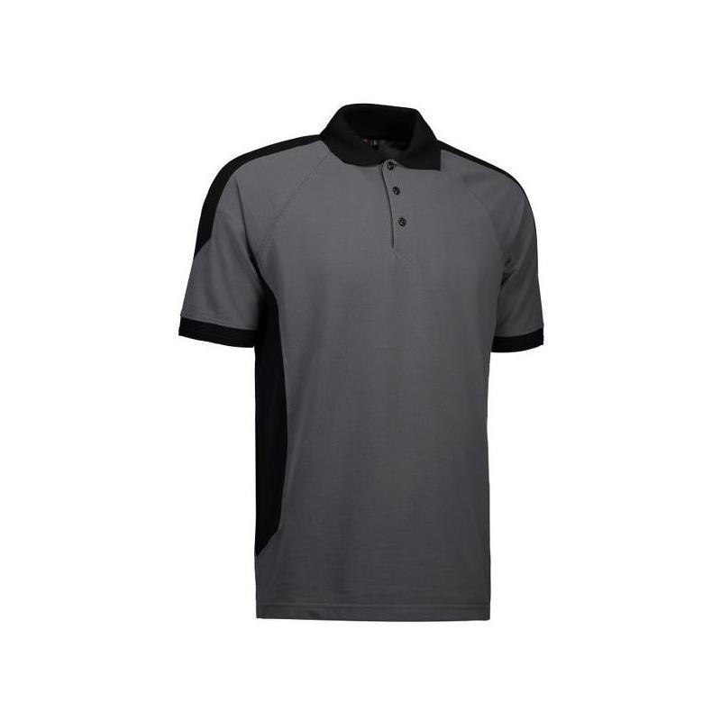 Heute im Angebot: PRO Wear Herren Poloshirt 322 von ID / Farbe: grau / 50% BAUMWOLLE 50% POLYESTER