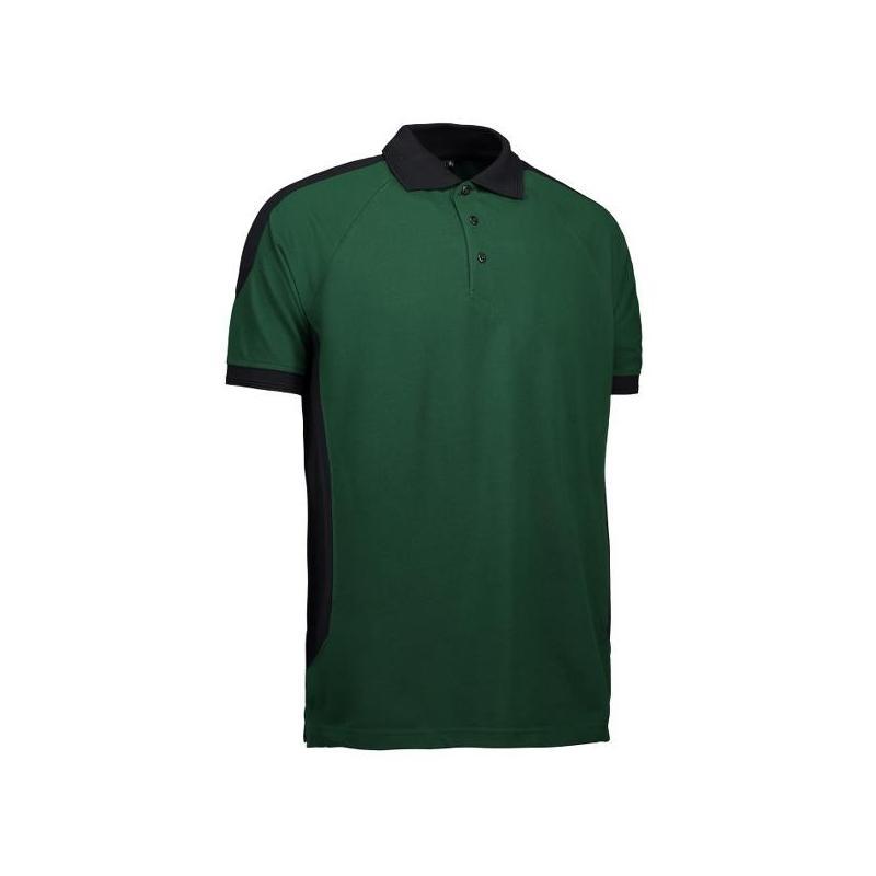 Heute im Angebot: PRO Wear Herren Poloshirt 322 von ID / Farbe: grün / 50% BAUMWOLLE 50% POLYESTER in der Region kaufen