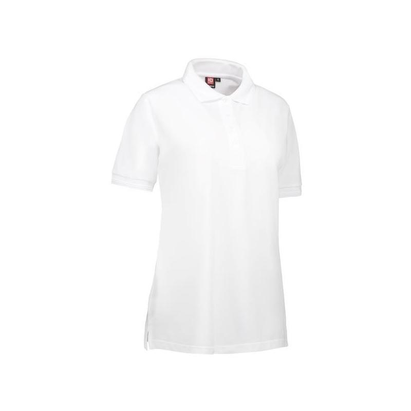 Heute im Angebot: PRO Wear Damen Poloshirt 321 von ID / Farbe: weiß / 50% BAUMWOLLE 50% POLYESTER in der Region kaufen