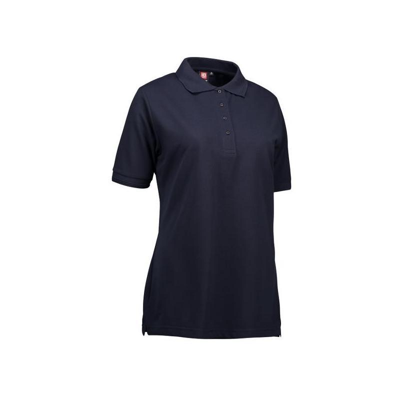 Heute im Angebot: PRO Wear Damen Poloshirt 321 von ID / Farbe: navy / 50% BAUMWOLLE 50% POLYESTER
