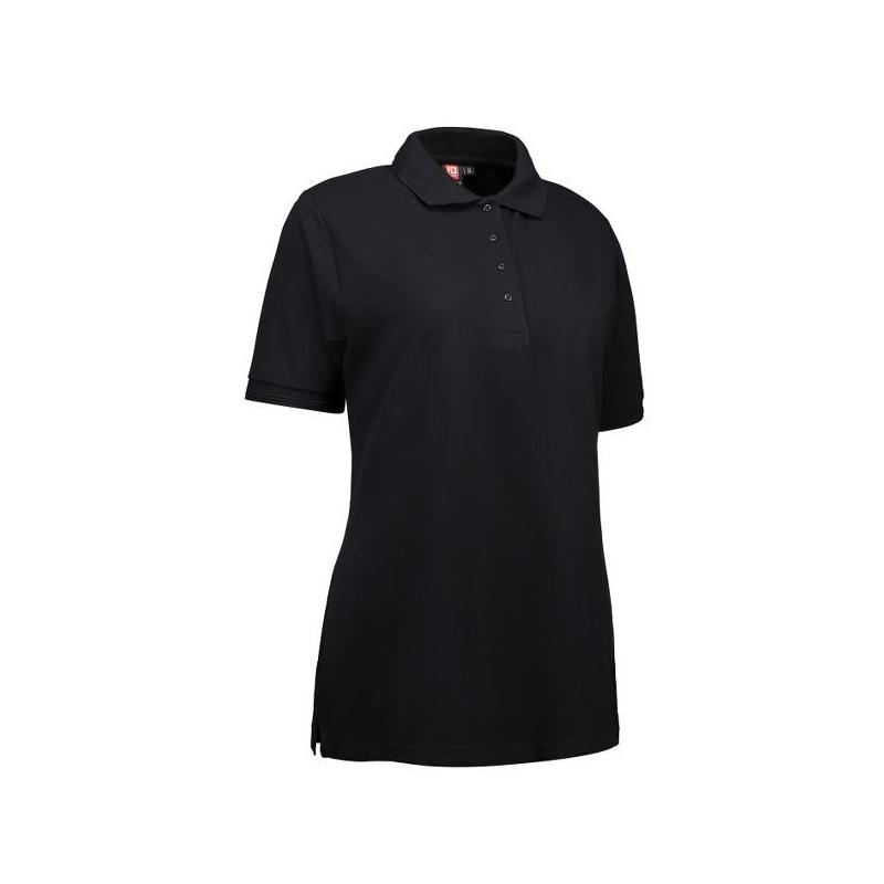 Heute im Angebot: PRO Wear Damen Poloshirt 321 von ID / Farbe: schwarz / 50% BAUMWOLLE 50% POLYESTER