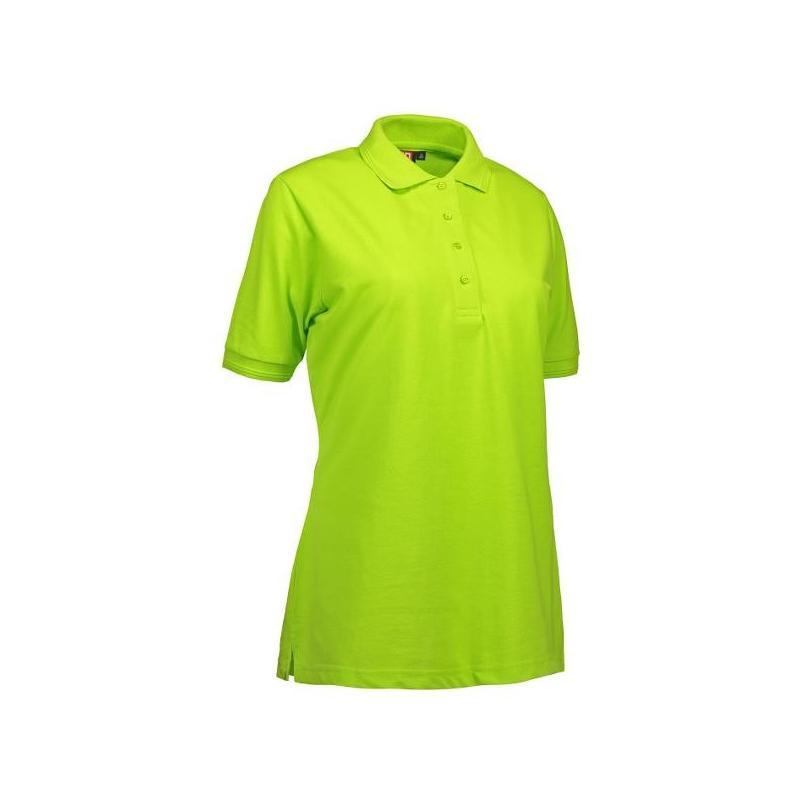 Heute im Angebot: PRO Wear Damen Poloshirt 321 von ID / Farbe: lime / 50% BAUMWOLLE 50% POLYESTER in der Region kaufen