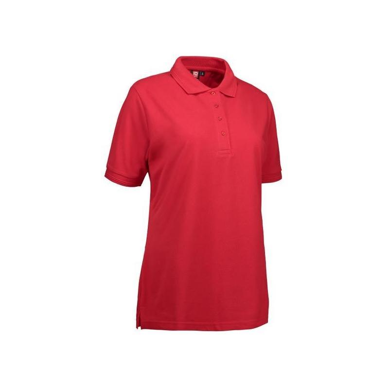 Heute im Angebot: PRO Wear Damen Poloshirt 321 von ID / Farbe: rot / 50% BAUMWOLLE 50% POLYESTER in der Region Schwerin