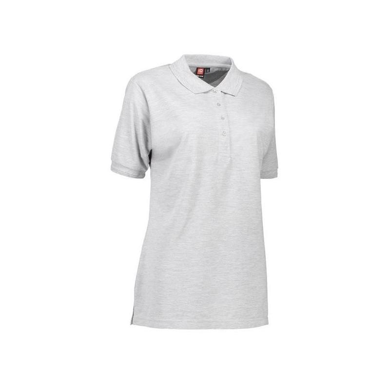 Heute im Angebot: PRO Wear Damen Poloshirt 321 von ID / Farbe: hellgrau / 50% BAUMWOLLE 50% POLYESTER