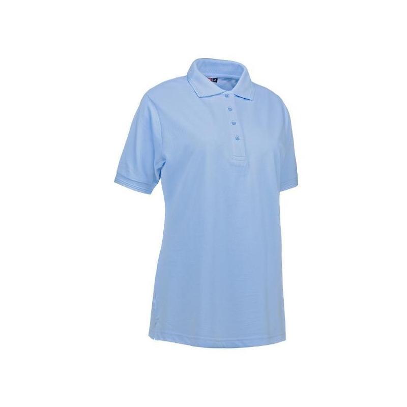 Heute im Angebot: PRO Wear Damen Poloshirt 321 von ID / Farbe: hellblau / 50% BAUMWOLLE 50% POLYESTER