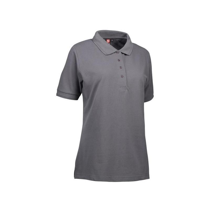 Heute im Angebot: PRO Wear Damen Poloshirt 321 von ID / Farbe: grau / 50% BAUMWOLLE 50% POLYESTER