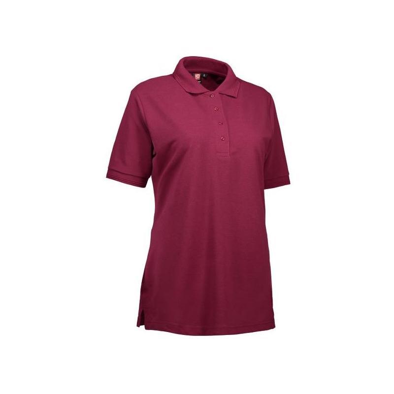 Heute im Angebot: PRO Wear Damen Poloshirt 321 von ID / Farbe: bordeaux / 50% BAUMWOLLE 50% POLYESTER