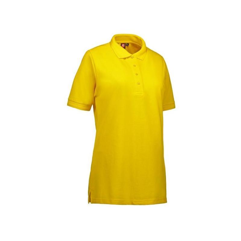 Heute im Angebot: PRO Wear Damen Poloshirt 321 von ID / Farbe: gelb / 50% BAUMWOLLE 50% POLYESTER