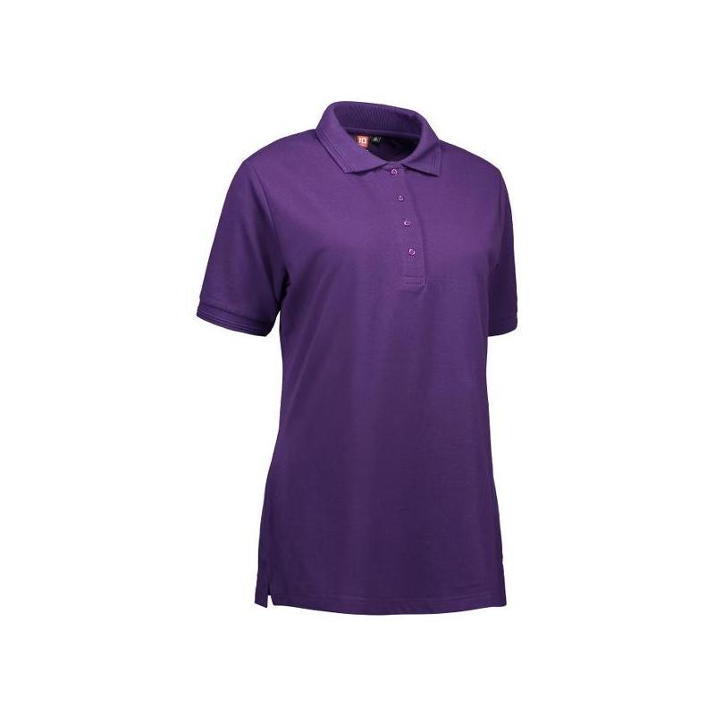 Heute im Angebot: PRO Wear Damen Poloshirt 321 von ID / Farbe: lila / 50% BAUMWOLLE 50% POLYESTER