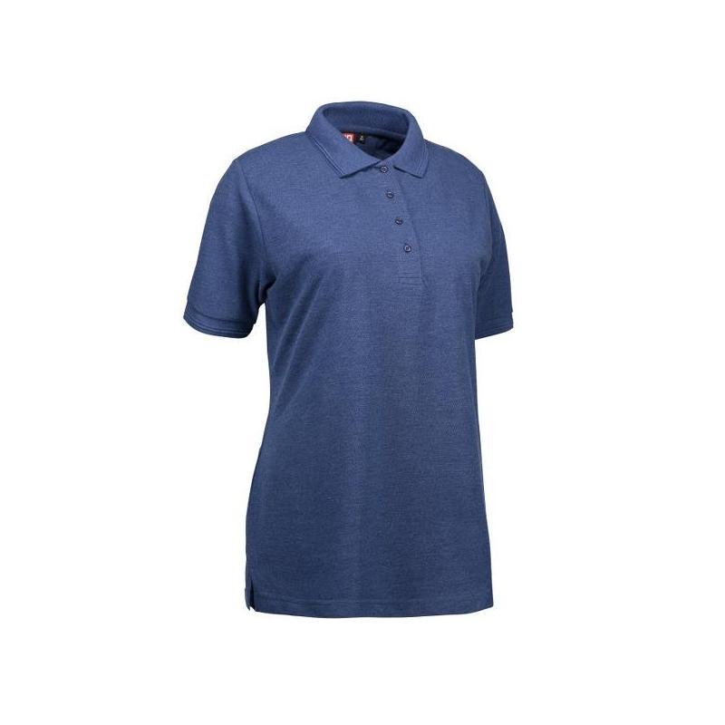 Heute im Angebot: PRO Wear Damen Poloshirt 321 von ID / Farbe: blau / 50% BAUMWOLLE 50% POLYESTER