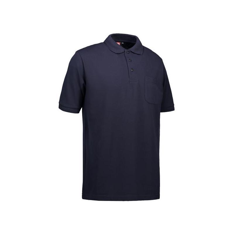 Heute im Angebot: PRO Wear Herren Poloshirt 320 von ID / Farbe: navy / 50% BAUMWOLLE 50% POLYESTER in der Region kaufen