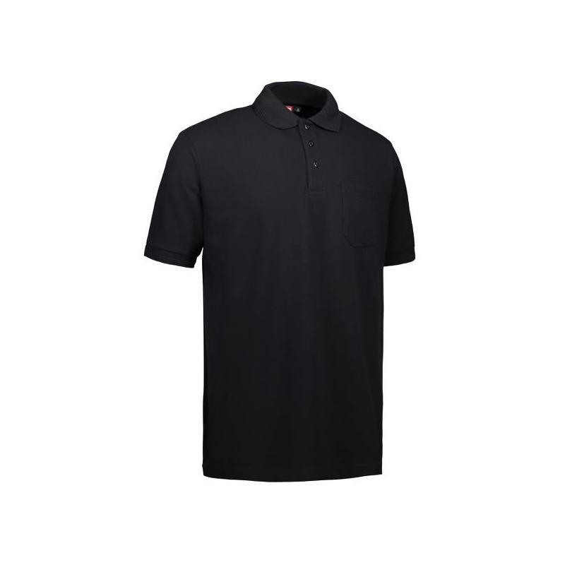 Heute im Angebot: PRO Wear Herren Poloshirt 320 von ID / Farbe: schwarz / 50% BAUMWOLLE 50% POLYESTER in der Region kaufen