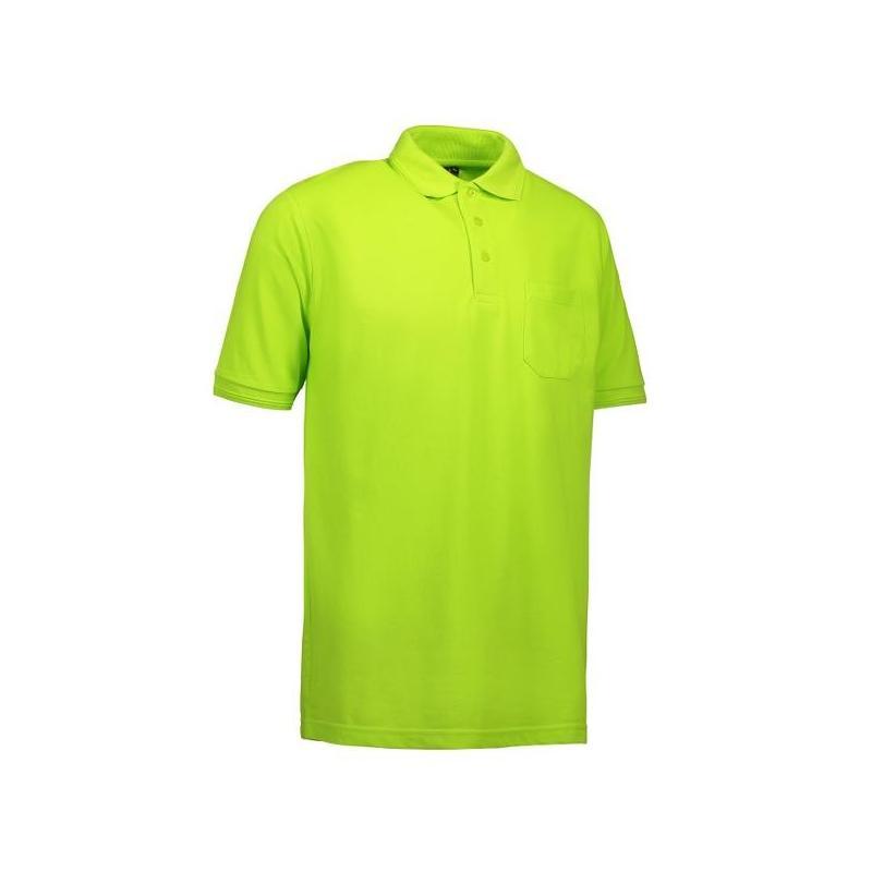 Heute im Angebot: PRO Wear Herren Poloshirt 320 von ID / Farbe: lime / 50% BAUMWOLLE 50% POLYESTER