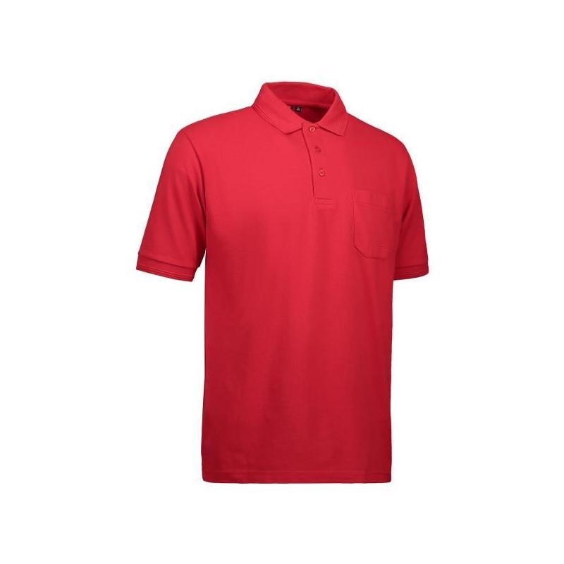 Heute im Angebot: PRO Wear Herren Poloshirt 320 von ID / Farbe: rot / 50% BAUMWOLLE 50% POLYESTER jetzt günstig kaufen