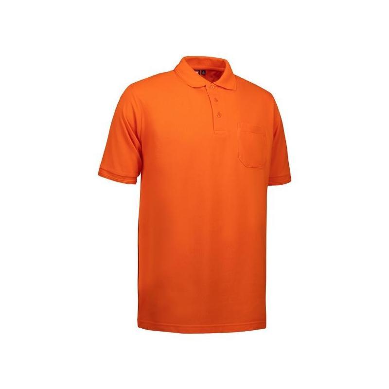 Heute im Angebot: PRO Wear Herren Poloshirt 320 von ID / Farbe: orange / 50% BAUMWOLLE 50% POLYESTER