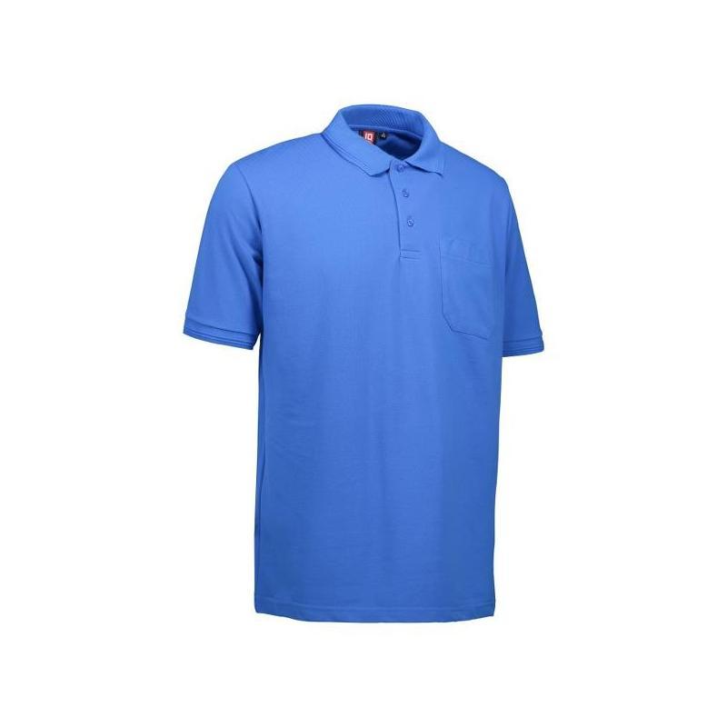 Heute im Angebot: PRO Wear Herren Poloshirt 320 von ID / Farbe: azur / 50% BAUMWOLLE 50% POLYESTER