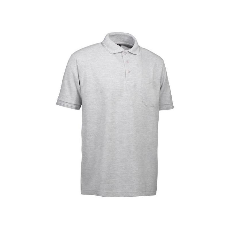Heute im Angebot: PRO Wear Herren Poloshirt 320 von ID / Farbe: hellgrau / 50% BAUMWOLLE 50% POLYESTER