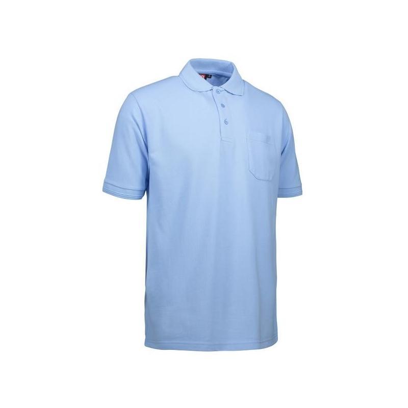 Heute im Angebot: PRO Wear Herren Poloshirt 320 von ID / Farbe: hellblau / 50% BAUMWOLLE 50% POLYESTER jetzt günstig kaufen