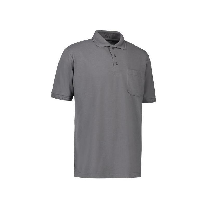 Heute im Angebot: PRO Wear Herren Poloshirt 320 von ID / Farbe: grau / 50% BAUMWOLLE 50% POLYESTER jetzt günstig kaufen