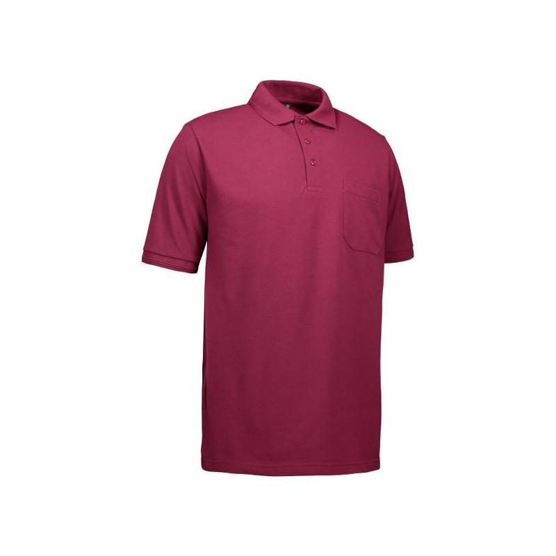 Heute im Angebot: PRO Wear Herren Poloshirt 320 von ID / Farbe: bordeaux / 50% BAUMWOLLE 50% POLYESTER