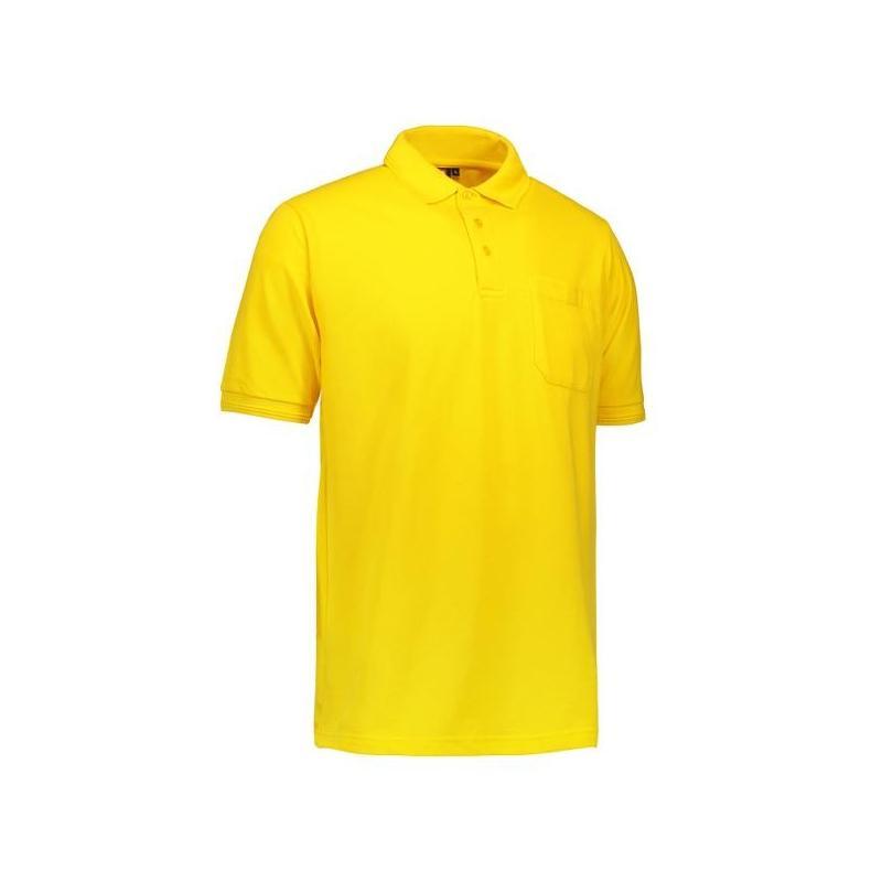 Heute im Angebot: PRO Wear Herren Poloshirt 320 von ID / Farbe: gelb / 50% BAUMWOLLE 50% POLYESTER jetzt günstig kaufen