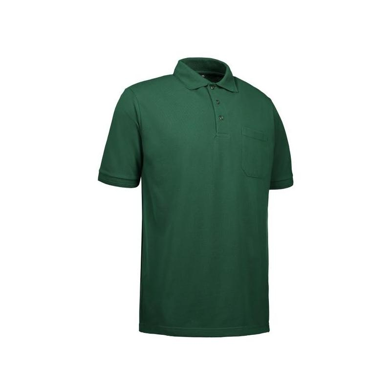 Heute im Angebot: PRO Wear Herren Poloshirt 320 von ID / Farbe: grün / 50% BAUMWOLLE 50% POLYESTER in der Region kaufen