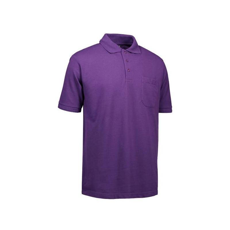 Heute im Angebot: PRO Wear Herren Poloshirt 320 von ID / Farbe: lila / 50% BAUMWOLLE 50% POLYESTER jetzt günstig kaufen